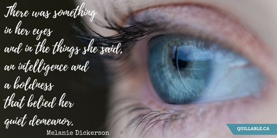 There was something in her eyes and in the things she said, an intelligence and a boldness that belied her quiet demeanor.