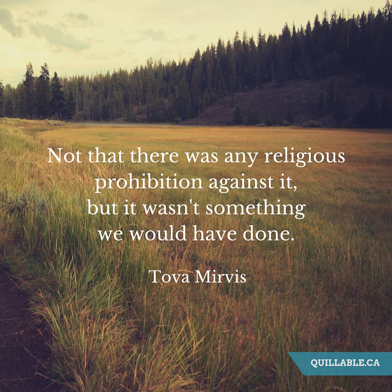 Not that there was any religious prohibition against it, but it wasn't something we would have done..jpg