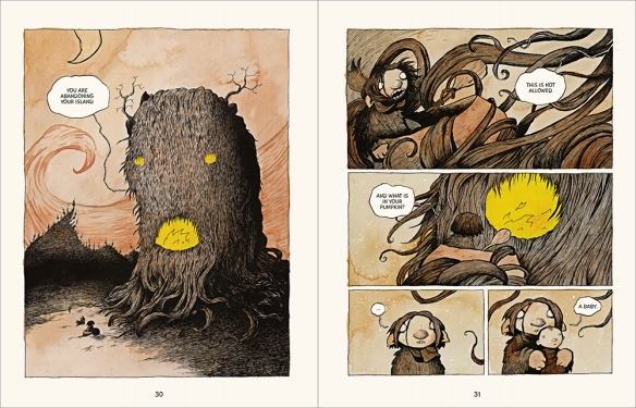 Bera the one headed troll Eric Orchard illustration graphic novel